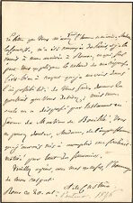 Astolphe de CUSTINE    Lettre autographe signée. 1836