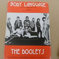 songsheet BODY LANGUAGE The Dooleys, 1980