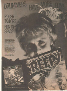 Queen Roger Taylor 1981 Ad- Fun In Space  Advertisement