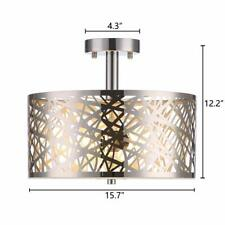 Beautiful Wtape 2 Light Crystal Chrome Finish Semi-Flush Mount Ceiling Light