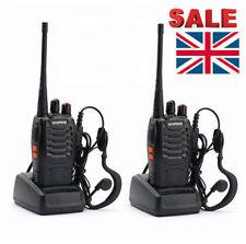 2x Baofeng BF-888S UHF 400-470MHz Two-way Ham Radio Walkie Talkie UK Sale