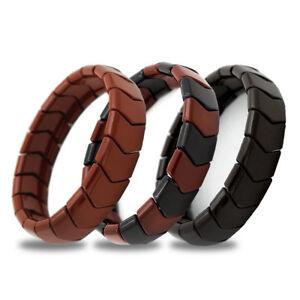 Power IONICS Health Ion Tourmaline Beads Stretch Bracelet Wristband FreeShipping