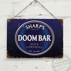 Doombar Vintage Metal Wall Sign Plaque Retro Shed Bar Pub Cornwall Rock Brewery