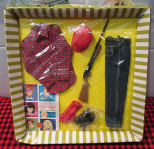 RARE 1964 VTG.NEW in BOX~KEN DOLL~GOING HUNTING FASHION~1409~COMPLETE~Torn Cello