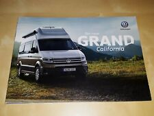 Volkswagen Grand California prospekt/brochure/folder 2019