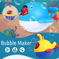 Baby Bubble Maker Toy 2 Styles Outdoor Fun Bubble Machine For Children Kids