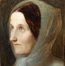 Umkreis Schadow Düsseldorf Biedermeier Dame mit Seidentuch um 1840