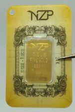 BIG SIZE GOLD BAR 0,50 gr 1/2 gram fine gold bullion bar 24K 1 gr 995