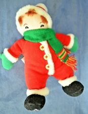 "Mary Engelbreit Plush Will Christmas Figure 8"" Doll Enesco 2000 Scarf Santa"