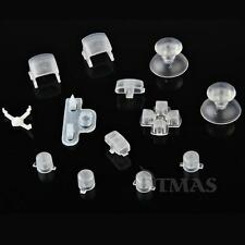 13 Clear Controller Thumbsticks D-pad Buttons Set for PS3 Playstation 3 Gaming