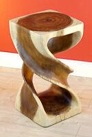 Holz Beistelltisch 50 cm Tisch Massiv Hocker Säule Nachttisch Wohnzimmertisch