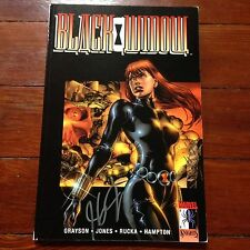 Black Widow Marvel Knights signed by J.G. Jones trade paperback collection