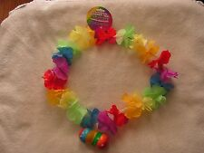 Gay Pride Rainbow flower Necklace light up Boobie, Free Shipping
