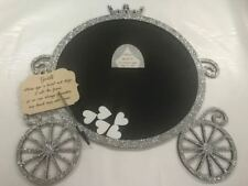 Disney Princess Cinderella pumpkin 100 carriage glitter silver Wedding drop box