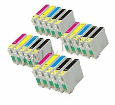 20 CARTUCCE STAMPANTE PER EPSON T0711 T0712 T0713 T0714 CON CHIP Stylus DX4000