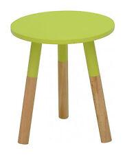 Moderne Design Tablett Beistelltisch grün mit teillakierten Beinen ø 35 cm