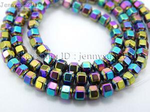 Natural Hematite Gemstone 18 Faceted Bicone Lantern Beads 16'' Metallic Colors
