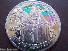 2005 Jefferson Riding Lieutenant Plain Aluminum Mardi Gras Doubloon