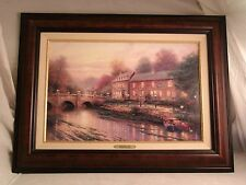 THOMAS KINKADE, LAMPLIGHT INN CANVAS CLASSIC 12X18, FRAMED