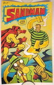 SANDMAN BLACK LIGHT Original PASTEL DRAWING Bennett Art Spider-Man & JSA