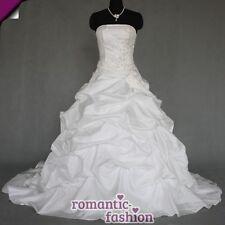 ♥ elegante vestido de novia vestido de bodas blanco talla 34 hasta 54 para la selección +neu+w055 ♥