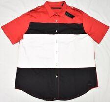 Sean John Button Down Shirt Men's Size M Colorblocked Stretch Twill Woven N902