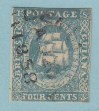 BRITISH GUIANA 10  SG 20 NO FAULTS EXTRA FINE ! WITH CERT