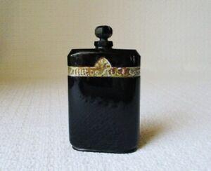 Vintage Caron Nuit de Noel Black Baccarat Glass Bottle with Glass Stopper