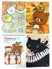 San-X Rilakkuma Charactor Plastic A4 File Folder - 4 Assorted Color - B (5C98)