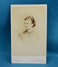 Victorian CDV Photo Carte De Visite Lady With Locket G Marks St Pauls London