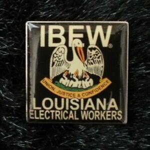 IBEW Brotherhood Electrical Workers Lapel Pin Louisiana Electrical Workers