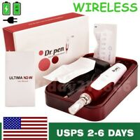 Electric Dr.Pen Derma Pen Stamp Auto Anti Aging Acne Skin Therapy 2pcs Needles