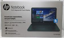 "HP Black Licorice 15.6"" Touchscreen, 15-F387WM Laptop PC AMD A8, 4GB RAM, 500GB"