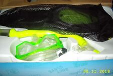 BODYGLOVE RECREATIONAL SERIES YOUTH SNORKELING NEON YLW/GREEN FIN SIZE JR.13-1