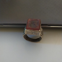 Scarce Ancient Rare Ring king Roman Intaglio Solid Silver Natural Carnelian