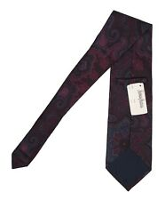 NEW Etro Silk Tie!  *Burgundy Navy Purple Dark Red Green Paisley*  *Italy*