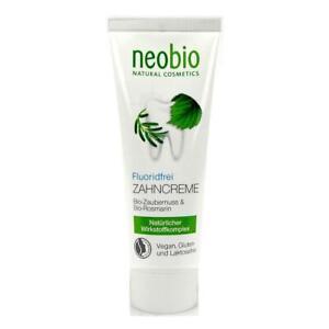 (23,33/100ml) 6x Neobio Zahncreme fluoridfrei ohne Fluorid 75 ml
