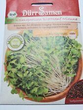 4471 Dürr BIO Keimsprossen Blattsenf Mizuna  ca.25g Würziger Geschmack Samen