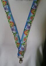 Blue dinosaur trex dino ribbon lanyard safety clip ID badge holder student gift