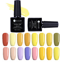 7.5ml Nail Art Soak Off Gel Polish  Yellow Color UV LED  Gel Varnish DIY