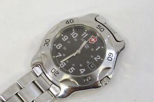 Swiss Army Brand Men's Stainless Steel Wristwatch.