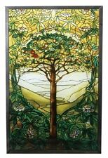 """10 Inch Stained Glass Tiffany - """"Tree of Life"""" Art Glass, New, Free Shipping"""