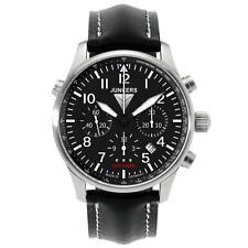 Armbanduhren mit Armband aus echtem Leder, Chronograph und mattem Finish