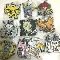RARE Digimon Adventure Capsule Rubber Mascot Ultimate Complete Ed. 10PCS SET