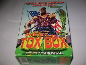 THE TOX BOX : TOXIC AVENGER 1 2 & 3 plus TOXIC CRUSADERS - RARE IMPORT 4 DVD SET