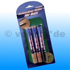 Retuschier-Stifte für Holz & Furnier Reparatur Reperatur Korrektur für Möbel 3er