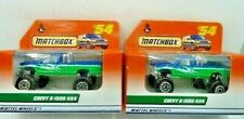 Matchbox 1998 Chevy K-1500 4X4 Pickup Truck Diecast Car Lot of 2: New In Package