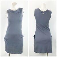 Lacoste 36 Womens Gray Sleeveless Pockets Knit Sheath Dress