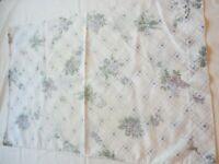 Pillow Case Vintage 1980's Percale Purple Floral Print