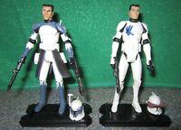 Rare Star Wars Clone Wars 104th Commander WOLFFE + 501st Trooper ECHO Lot - Used